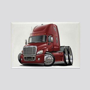 Freightliner Maroon Truck Rectangle Magnet