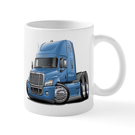Freightliner Lt Blue Truck Mug