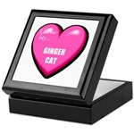 I Love My Ginger Cat Keepsake Box