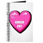 I Love My Ginger Cat Journal