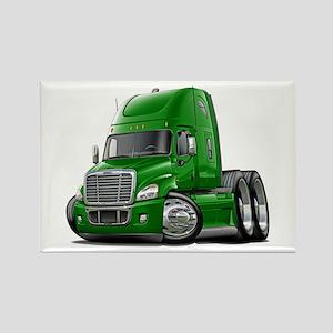 Freightliner Green Truck Rectangle Magnet
