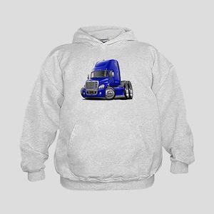 Freightliner Blue Truck Kids Hoodie