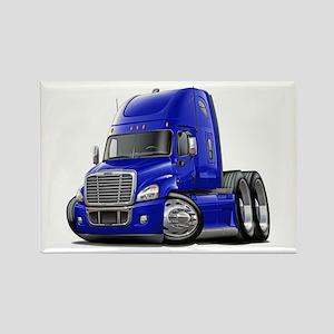 Freightliner Blue Truck Rectangle Magnet