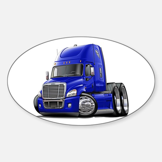 Freightliner Blue Truck Sticker (Oval)