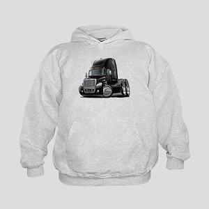 Freightliner Black Truck Kids Hoodie