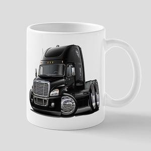 Freightliner Black Truck Mug