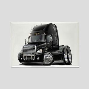 Freightliner Black Truck Rectangle Magnet