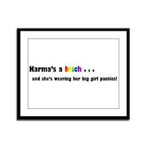 Karma Framed Panel Print