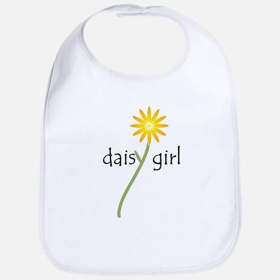 Yellow Daisy Girl Baby Bib