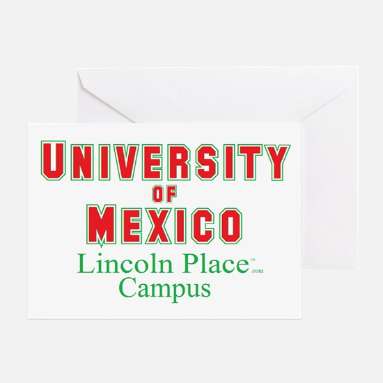University of Mexico Lincoln Greeting Card
