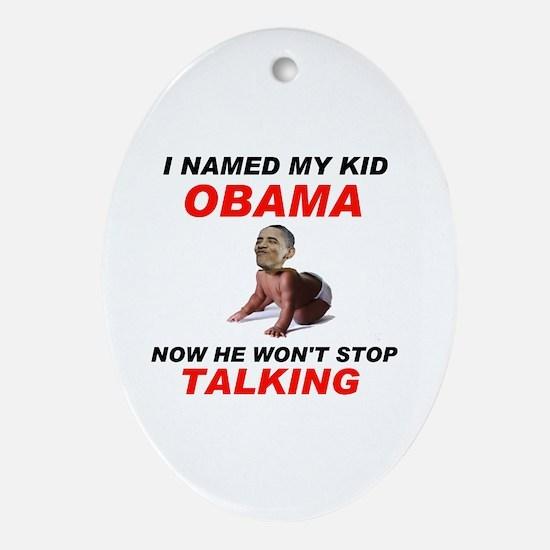 SHUT UP ! - Ornament (Oval)