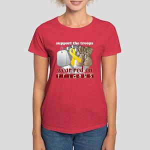 Red 1 Women's Dark T-Shirt