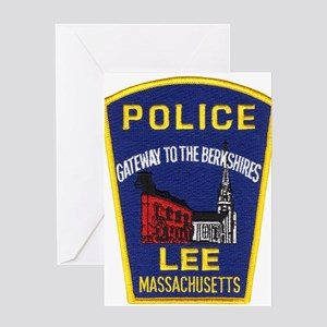 Lee Massachusetts Police Greeting Card