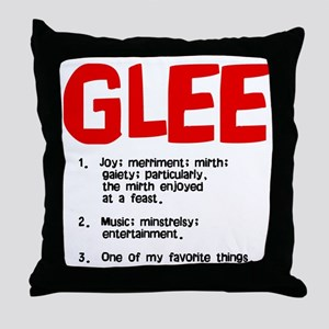 glee defined Throw Pillow