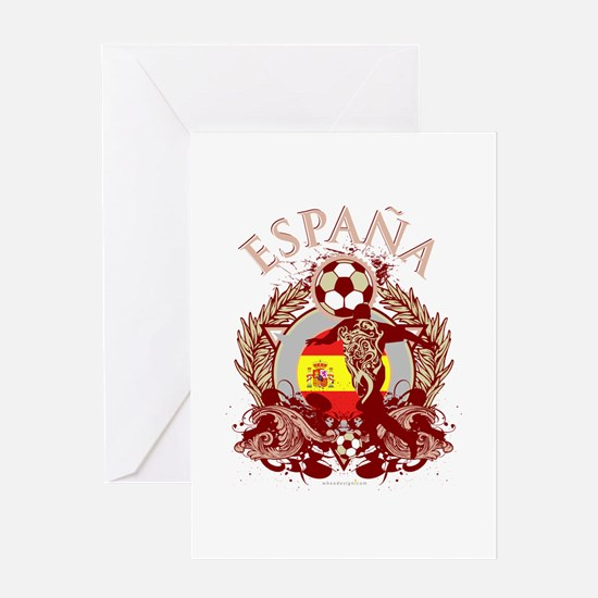 Espana Soccer Greeting Card