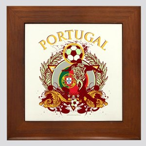 Portugal Soccer Framed Tile
