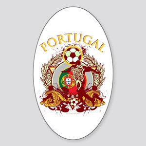 Portugal Soccer Sticker (Oval)
