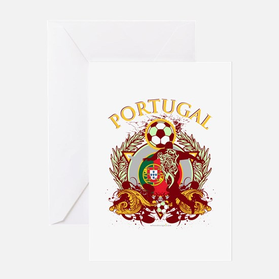 Portugal Soccer Greeting Card