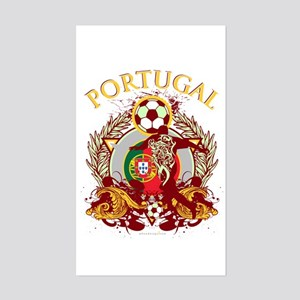 Portugal Soccer Sticker (Rectangle)