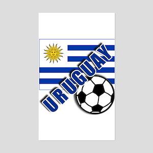URUGUAY Soccer Team Sticker (Rectangle)