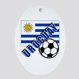 URUGUAY Soccer Team Ornament (Oval)