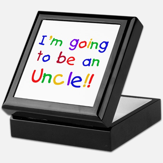 Going to be an Uncle Keepsake Box