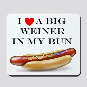 I Love Weiner Mousepad