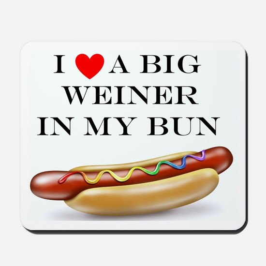 I Love Weiner Mousepad