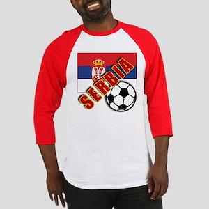 World Soccer SERBIA Team T-shirts Baseball Jersey
