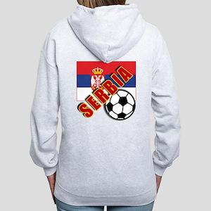 World Soccer SERBIA Team T-shirts Women's Zip Hood