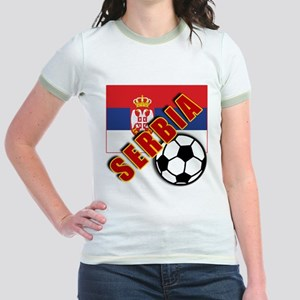 World Soccer SERBIA Team T-shirts Jr. Ringer T-Shi