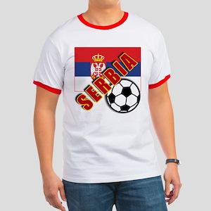 World Soccer SERBIA Team T-shirts Ringer T
