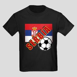 World Soccer SERBIA Team T-shirts Kids Dark T-Shir
