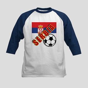 World Soccer SERBIA Team T-shirts Kids Baseball Je