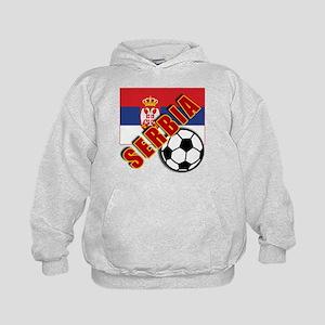 World Soccer SERBIA Team T-shirts Kids Hoodie