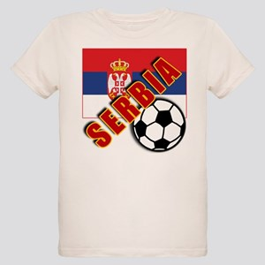 World Soccer SERBIA Team T-shirts Organic Kids T-S