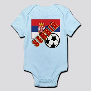 World Soccer SERBIA Team T-shirts Infant Bodysuit
