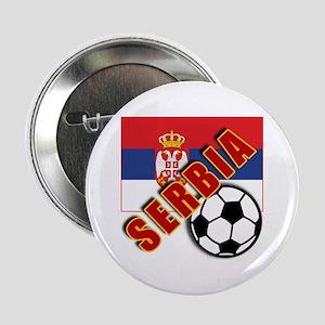 "World Soccer SERBIA Team T-shirts 2.25"" Button"
