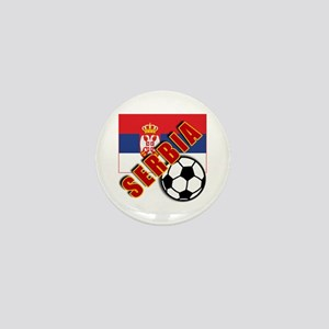 World Soccer SERBIA Team T-shirts Mini Button