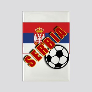 World Soccer SERBIA Team T-shirts Rectangle Magnet