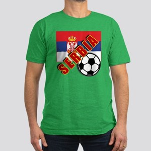World Soccer SERBIA Team T-shirts Men's Fitted T-S