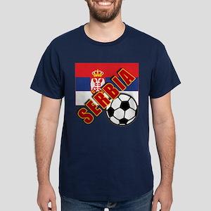 World Soccer SERBIA Team T-shirts Dark T-Shirt