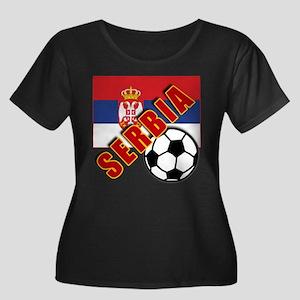World Soccer SERBIA Team T-shirts Women's Plus Siz