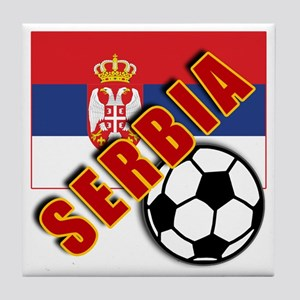 World Soccer SERBIA Team T-shirts Tile Coaster