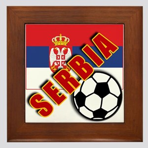 World Soccer SERBIA Team T-shirts Framed Tile