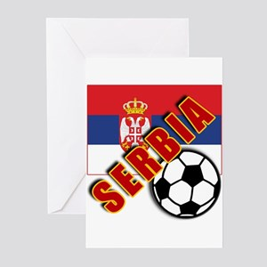 World Soccer SERBIA Team T-shirts Greeting Cards (