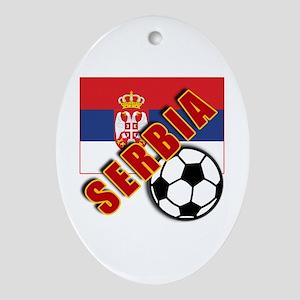World Soccer SERBIA Team T-shirts Ornament (Oval)