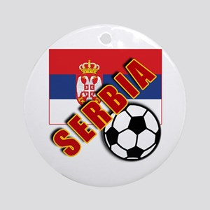 World Soccer SERBIA Team T-shirts Ornament (Round)