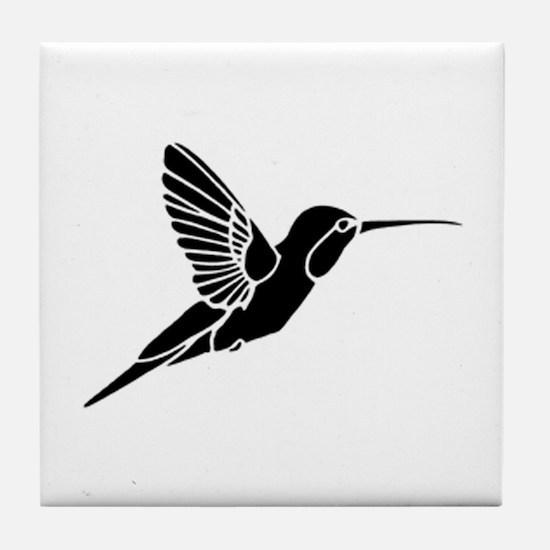 Hummingbird silhouette Tile Coaster