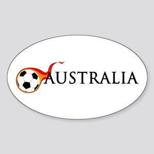 Australia Soccer Sticker (Oval)
